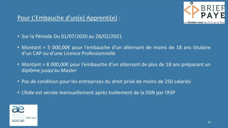 Page 20 750x422 - Replay du webinaire Brief Paye Septembre 2020