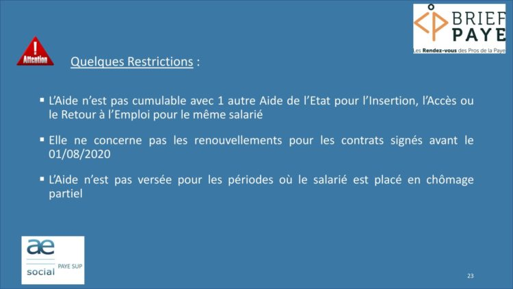 Page 23 750x422 - Replay du webinaire Brief Paye Septembre 2020